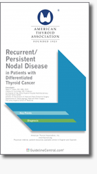 Recurrent / Persistent Nodal Disease