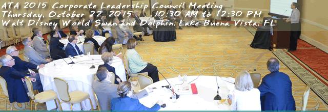 ATA 2015 Corporate Leadership Council Meeting