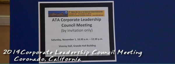 Corporate Leadership Council Meeting 2014