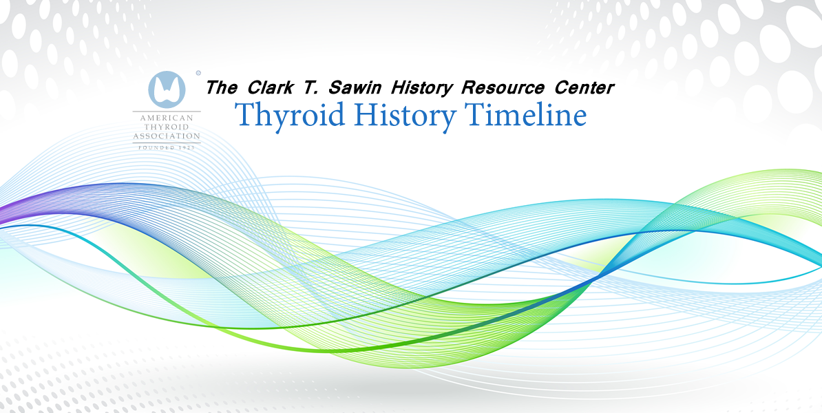 Thyroid History Timeline | American Thyroid Association