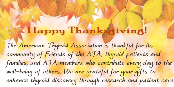 Happy Thanksgiving from the ATA